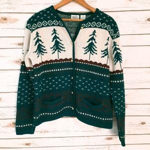 VTG Classic Elements Alpine Holiday Knit Cardigan